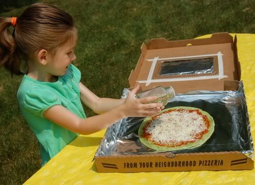 cute, interactive meal for summer. solar pizza oven!