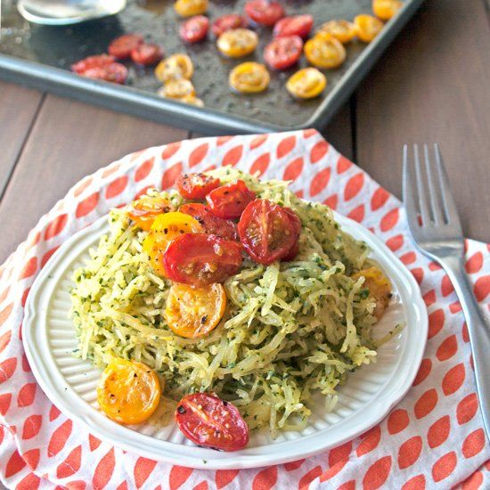 Spaghetti Squash Pesto With Tomatoes Recipes — Dishmaps