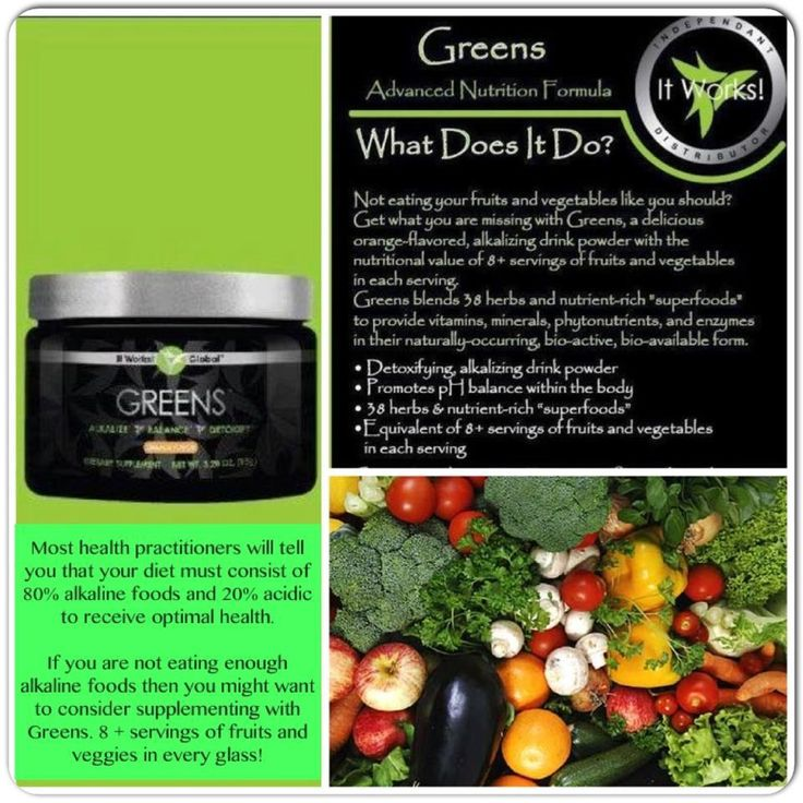 It works greens and diabetes