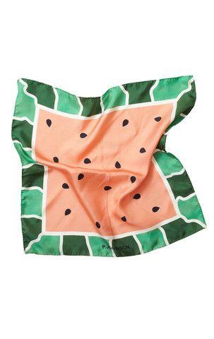 P.Johnson / watermelon pocket square