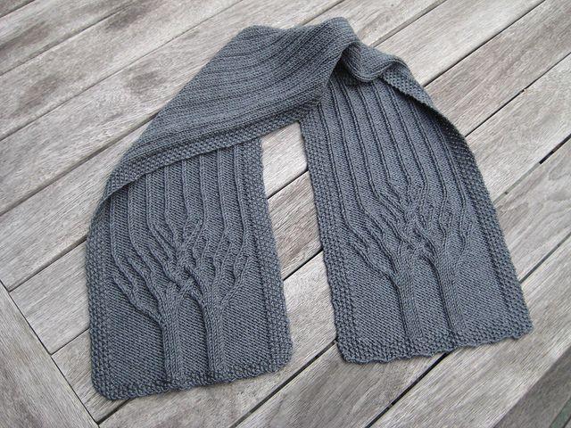 Tree of Life scarf Knitting patterns Pinterest