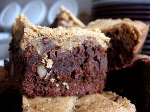 Chocolate Chip Cookie Topped Brownies | Brownies & Bars | Pinterest