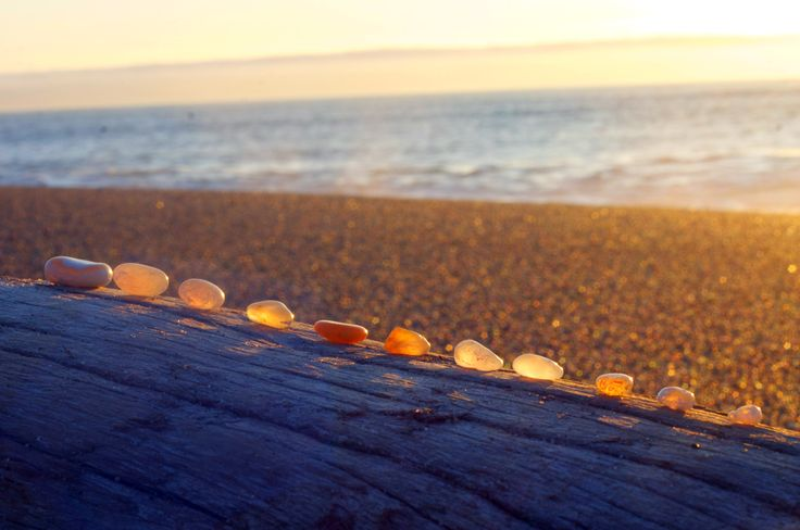 Love looking for agates on Agate Beach, Patricks Point Campground, Ca