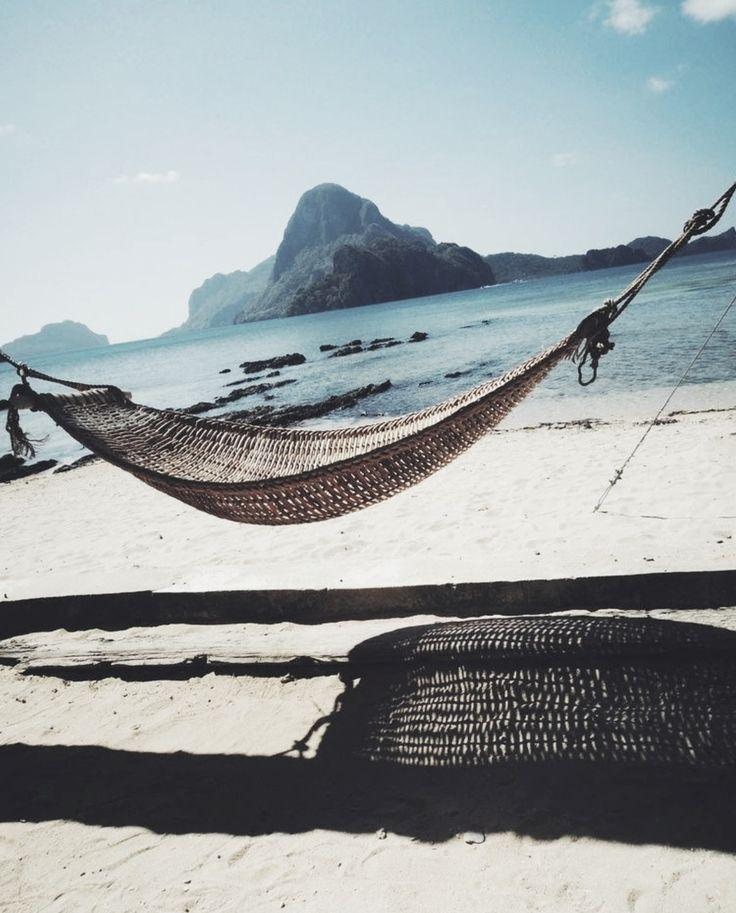 Hammock on the beach | Beachy day-dreams | Pinterest