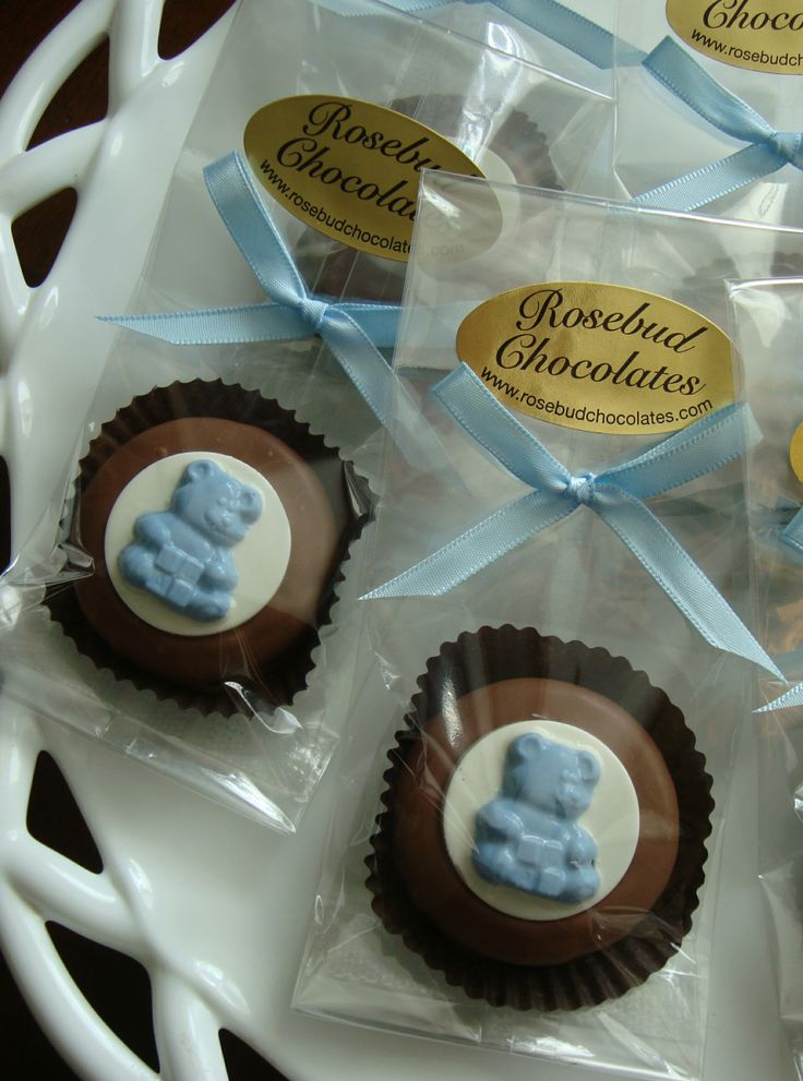 by rosebud chocolates on chocolate baby shower favors pinte
