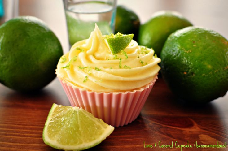 Coconut, lime and rum all in a cupcake, YUM!