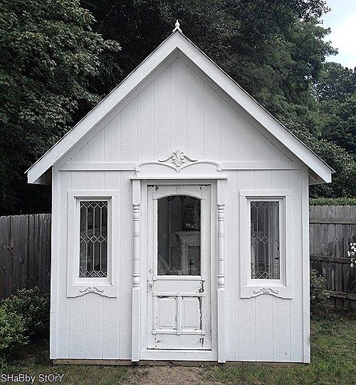 Garden shed tiny houses pinterest for Backyard cottage shed