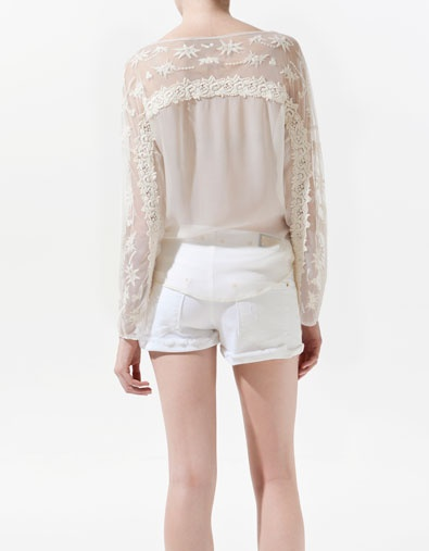 Zara Combined Embroidered Blouse 111