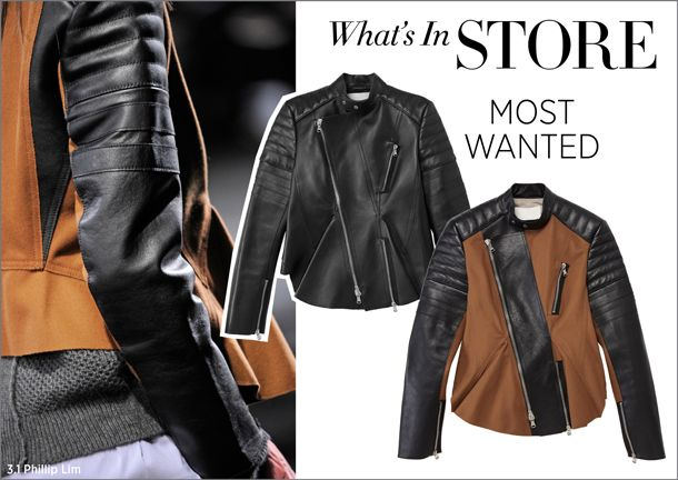 What's in Store at #ShopBAZAAR... 3.1 Phillip Lim Moto Leather Peplum Jacket