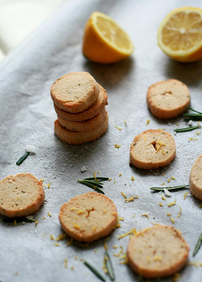 Lemon-Rosemary Shortbread Cookies | What Dress Code? | Pinterest