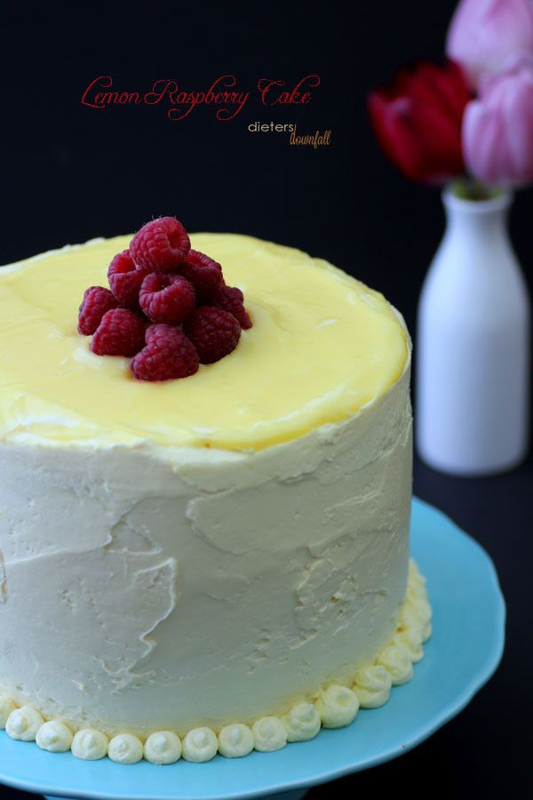 Lemon and Raspberry Cake filled with fresh lemon curd and rich ...