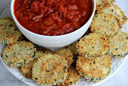 Parmesan Crusted Baked Zucchini Sticks With Marinara Sauce Recipe ...