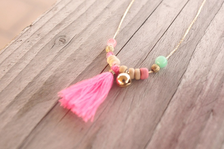 "Necklace ""Sorbet"" for little girls. - claradeparis.com likes the tassel"