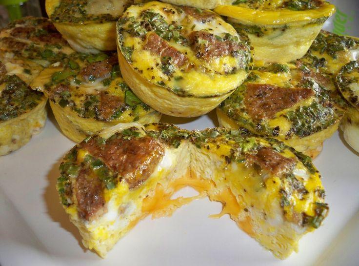 ... Pinch That! | LC/LF Turkey Sausage Cheesy Egg Muffins-Annette's