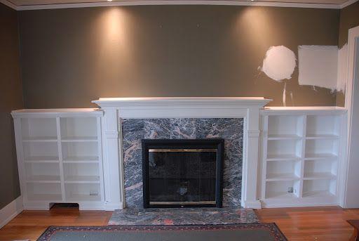 how to build around fireplace