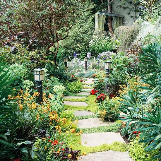 Garden path ideas stepping stone walkways Ideas for garden paths