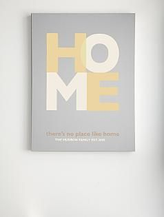 """""""there's no place like home"""" wall art"""