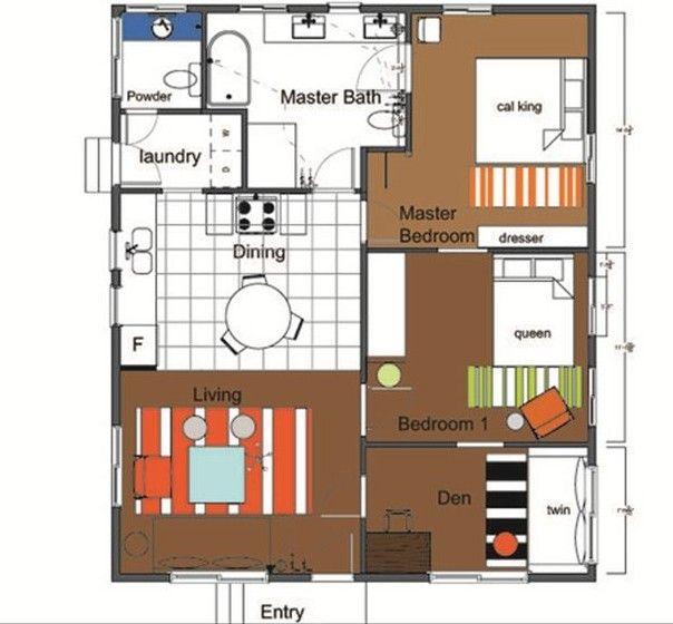 Floor Plan 1100 Square Feet