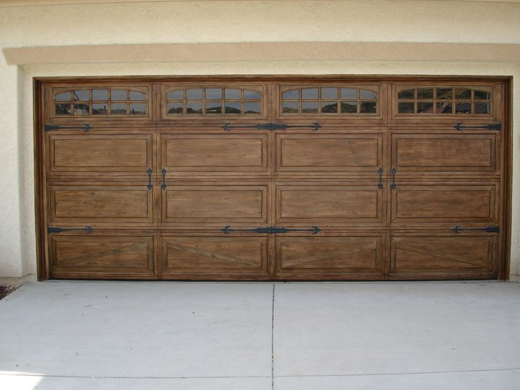 Faux painting on garage door garage envy pinterest Faux wood garage door paint
