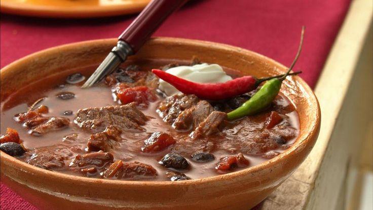 Slow-Cooker Steak and Black Bean Chili | Recipe