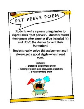 essay about my pet peeves