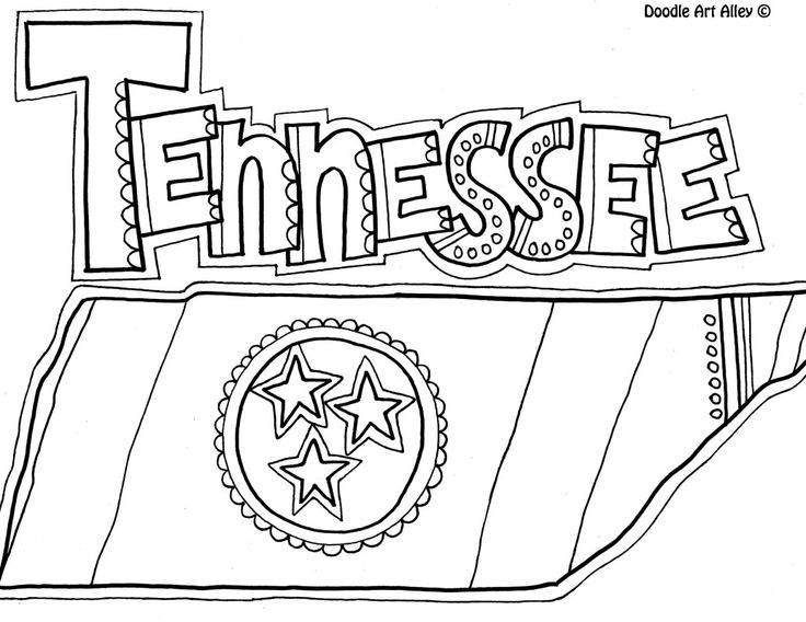 Tennessee Coloring Page By Doodle Art Alley Usa Coloring