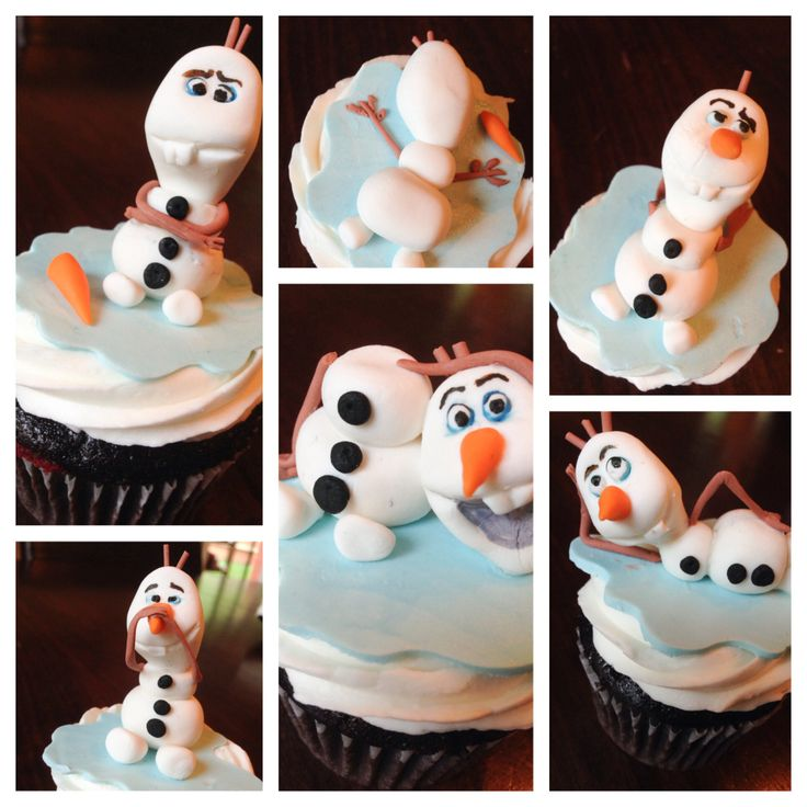 Olaf cupcakes topping