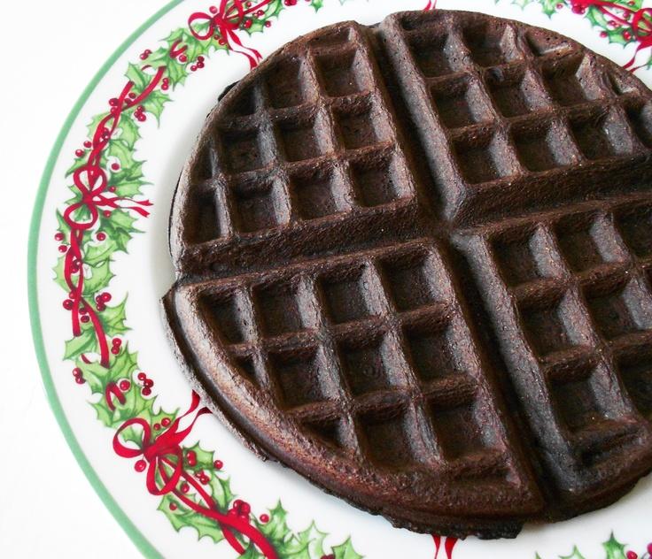 Dark chocolate waffle | Healthy ways to start the day | Pinterest