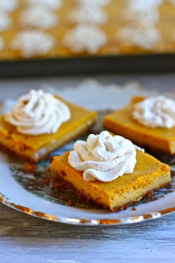 Pumpkin cheesecake bars | Cookies, Bars and Fudge | Pinterest