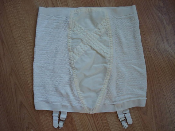 Vintage 1960s White Girdle with Garter by bycinbyhand on Etsy, $25.00