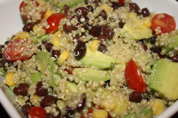 Quinoa Avocado Tomato and Black Bean Salad with Cilantro Lime Vinaigr ...
