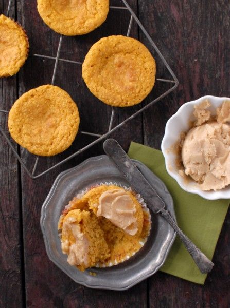 Pumpkin Cornbread Muffins & Whipped Honey-Maple Cinnamon Butter