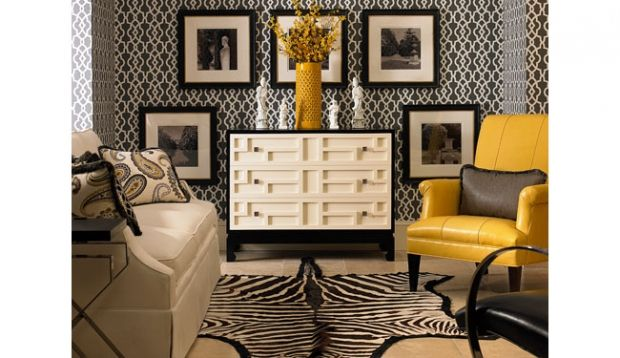Century black yellow gray living room 203 marion pinterest - Black and yellow living room ...