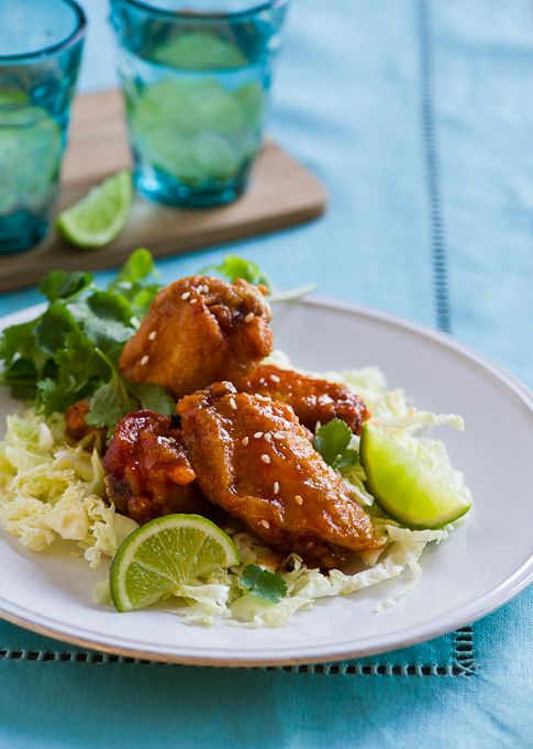 Honey-Sriracha Glazed Buffalo Wings recipe, adapted by White on Rice ...