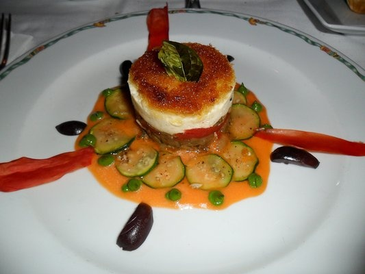 Goat Cheese Tatin, with Roasted Eggplant, Artichokes, Tomato Confit ...