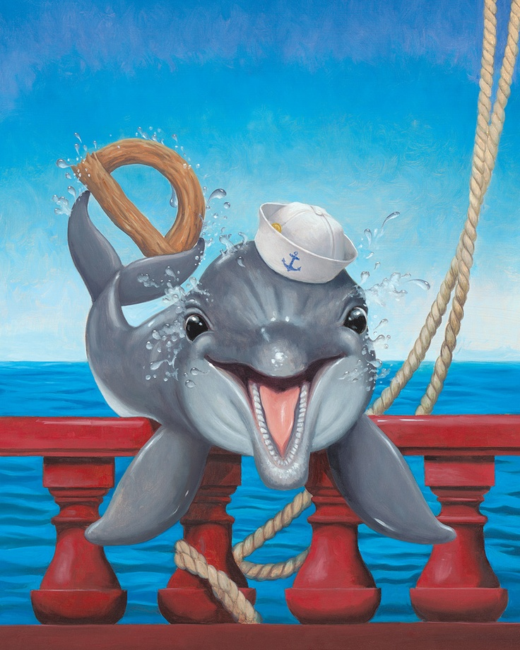 Did you know that I can see even while I am sleeping?  When I sleep, I rest one half of my brain at a time so that one eye is always open.  -Dolphin from My Very Own Pirate Tale
