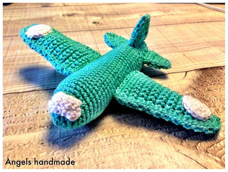 gehaakte vliegtuig gratis haakpatroon crochet plane free pattern angels handmade with love. Black Bedroom Furniture Sets. Home Design Ideas
