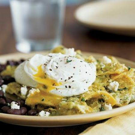 Chilaquiles with Poached Eggs and Black Beans Recipe | Key Ingredient