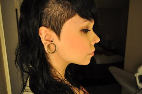 one side shaved hairstyle : One side shaved haircut the way i look... Pinterest
