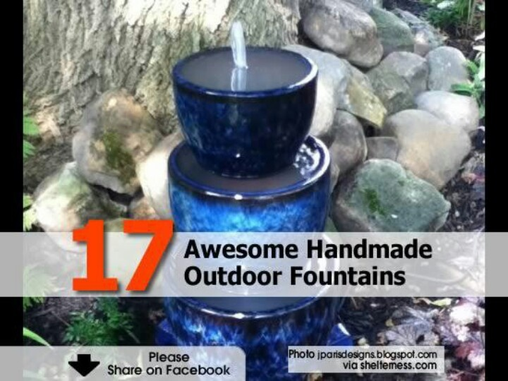 Homemade Fountains Outdoors Pinterest