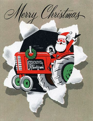 Santa on a tractor!