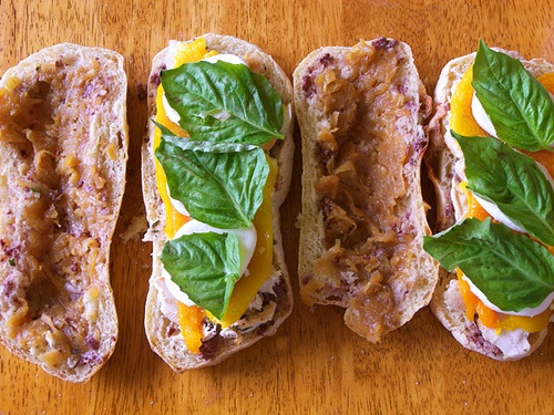 ... Pepper Sandwiches with Grilled Chicken Caramelized Onion and Basil
