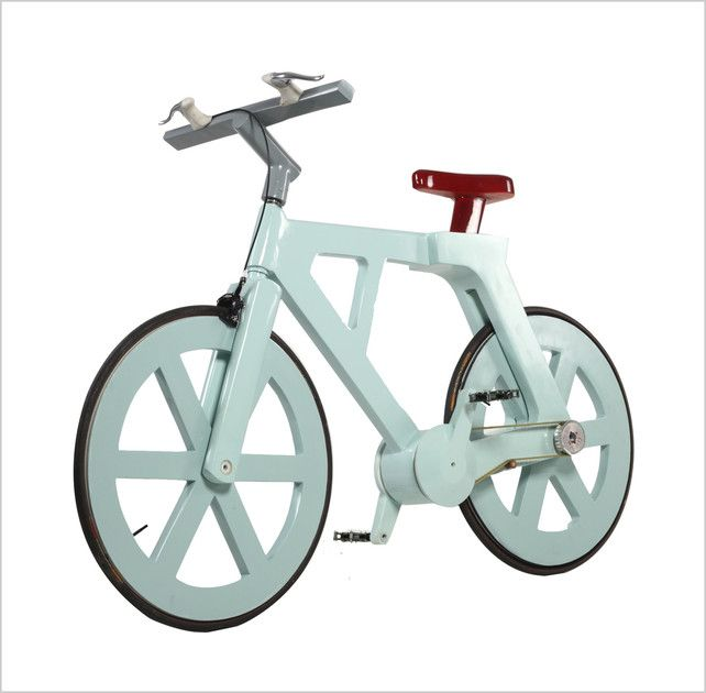 Cardboard Bike - can support riders up to 485lbs and cost $9 to manufacture | click the inage to read more at Co.Design