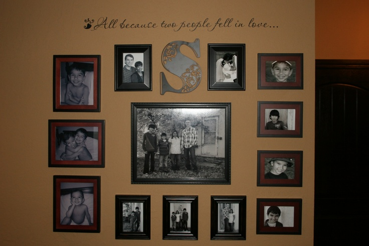 my family wall collage For the Home Pinterest