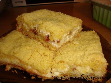 Творожный пирог рецепт с фото без яиц