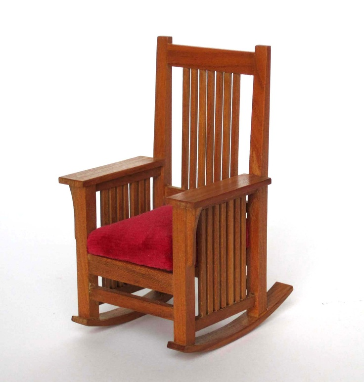 Miniature rocking chair based on the Gustav Stickley design. www ...