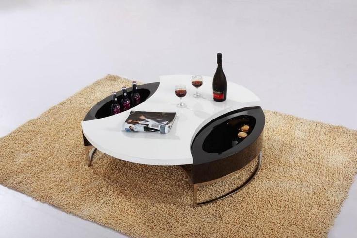 CJM037 Modern Round Coffee Table with Storage $259.00