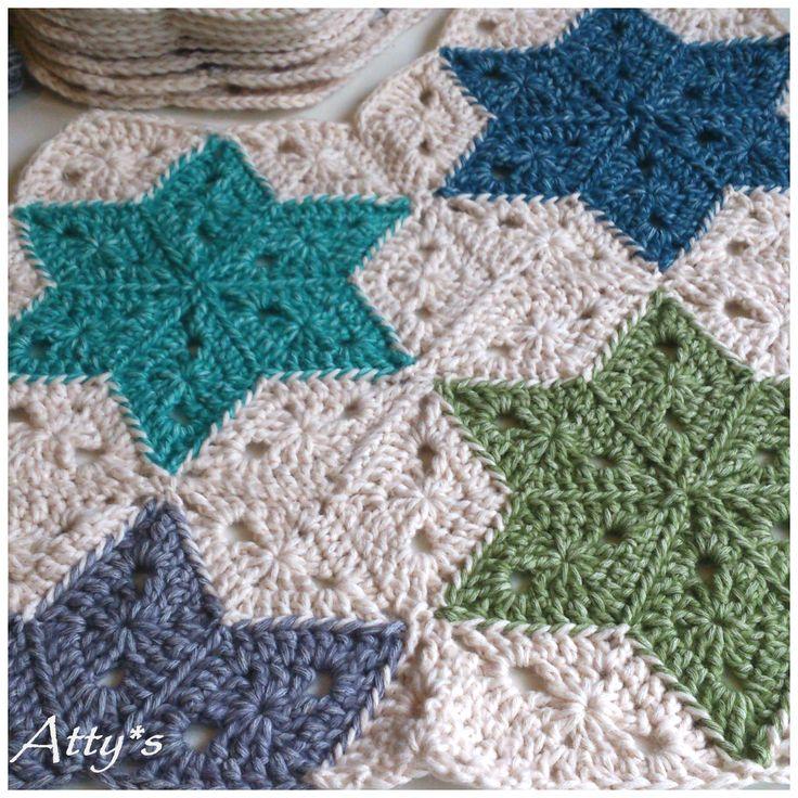 Crochet Patterns Star : Crochet Star Blanket