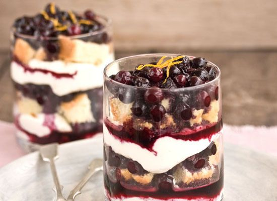 Blueberry Trifles With Mascarpone Whip Recipe — Dishmaps