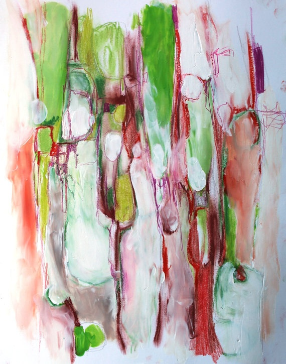... Painting Abstract Expressionism Untitled 14 11x17in on Paper | eBay